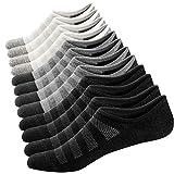 Ueither Calcetines Cortos para Hombre y Mujer Invisibles Respirable Calcetines tobilleros Algodón Antideslizantes