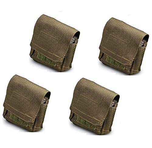 Ultimate Arms Gear 4 Pack of Unissued Surplus Zahal IDF Military 12 Elastic Shell Ammo Bullet M16/M4/AR15 5.56/.223 Pouch Carrier Holder Case with Belt Pants HOOK & ALICE Clip