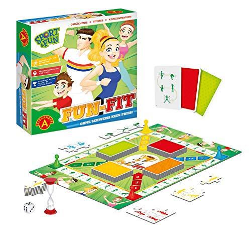 Alexander 2428 - Sport & Fun - Fun FIT, Brettspiel mit Sport Übungen, Aktivität Spiel für Körper und Fitness, Familienspiel für 2 - 4 Spieler, Gesellschaftsspiel für Erwachsene und Kinder ab 7 Jahre