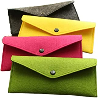 4PCS Muti-functional Felt Pouch Storage for cell phone,  stationary,  keys,  cosmetics,  currency and other essential items