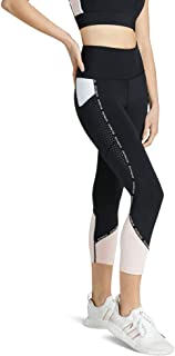 Rockwear Activewear Women's Snow Leopard 7/8 Blocked Logo Tight Black 14 from Size 4-18 for 7/8 Length Bottoms Leggings + ...