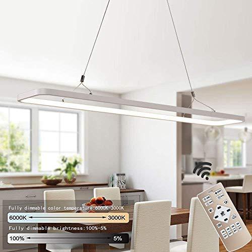 EYLM Pendelleuchte, Dimmbare 45W LED Hängeleuchte, 3000 Lumen Pendellampe mit Fernbedienung, Moderne Hängelampe für Esszimmer, Schlafzimmer, zu Hause
