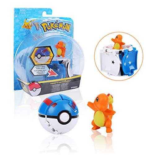 Colfeel Pokemon Figur, Pokemon Spielzeug Pokémon Ball Charmander Figure, Pokemon Parteien für Erwachsene und Kinder