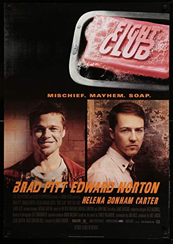 Poster Affiche Fight Club Brad Pitt Classic 90s Movie