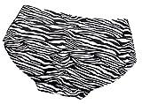 L&L Padded Underwear Bum Butt Lift Enhancer Brief Panties (S, Zebra)