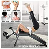 Adjustable Weight Bench with Leg Extension and Leg Curl, Foldable Fitness FID Flat/Incline/Decline