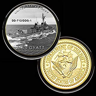 Momoso_store US Army Judge Advocate General's Corps (JAG) Gold-Colored Plated Challenge Coin, Replica Toys