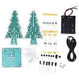 Aoca PCB estéreo DIY árbol de Navidad, árbol de Navidad 3D, cableado Simple electrónico Conveniente decoración navideña para decoración navideña(Colorful DIY Set)