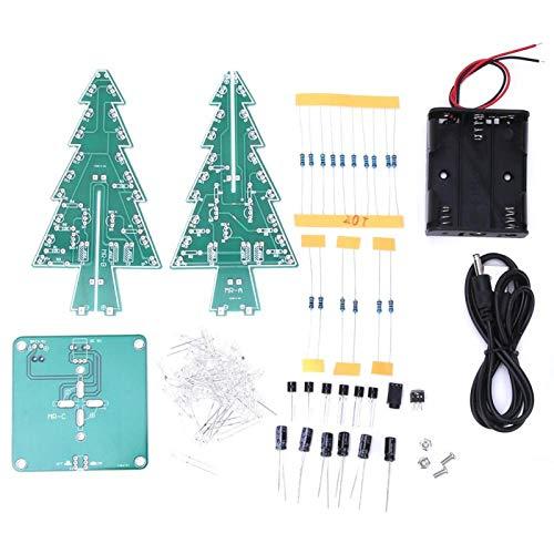 Emoshayoga Árbol de Navidad 3D LED Árbol de Navidad PCB PCB Árbol de Navidad estéreo Práctico para el hogar 100% Nuevo(Colorful DIY Set)