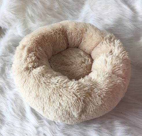 Petfekt - Gemütliches Haustierbett, reduziert Angst und Stress: Das natürliche Design des Betts sorgt für sofortige Entspannung und Komfort. (XXL (100cm), Beige)