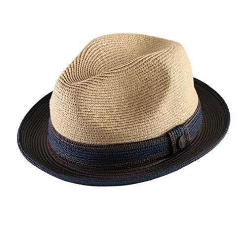 DASMARCA - Chapeau Trilby Paille Pliable - 2 Coloris - Homme ou Femme Benson - Taille L - Papier