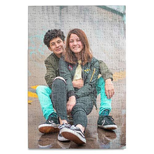 Puzzle mit eigenem Foto, Text oder Motiv selbst gestalten, indivdualisierbares Fotopuzzle mit 252 Teilen, ca. 38x26 cm, persönliches Fotogeschenk