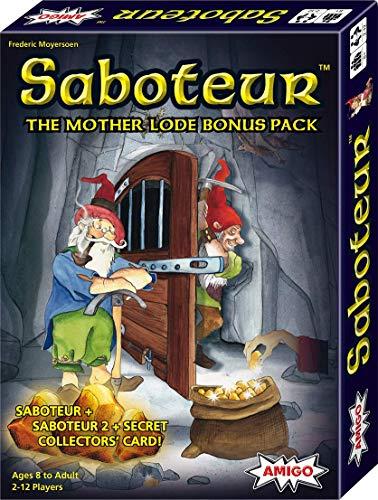 Jeu de cartes Saboteur The Mother Lode avec saboteur, 2 et une carte de collectionneur secrète