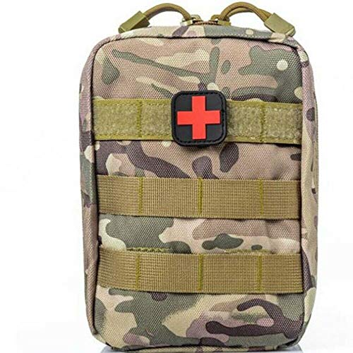 ASATechmed Tactical Military MOLLE First Aid IFAK Utility EMT Medical Pouch (Bag Only) Ideal Gift for First Responder, EMT, Paramedics, Soldiers, Police and More (Green Camouflage)
