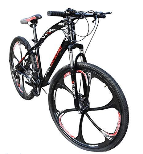 Adults Mens Mountain Bike Bicycle 21 Speed 26 inch Wheel MTB Suspension Women Kids (Black)
