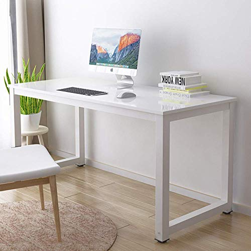 FSXJD Office Desk Modern Simple Computer Desk Conference table Bedroom Study Desk PC Laptop Table Multifunctional Storage Table-80x60x74cm White