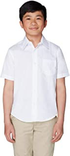 French Toast Boys' Short Sleeve Poplin Dress Shirt
