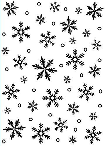 Darice Carpetas de estampación, Plantilla Copo de Nieve, Plastic, 6,5 x 30,5 cm