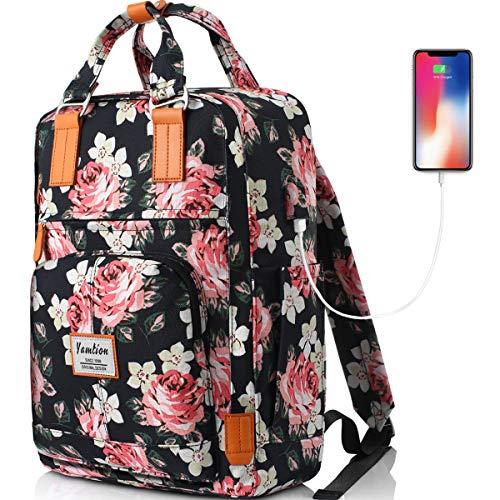 YAMTION Rucksack Damen,Schulrucksack Mädchen Teenager Daypack Damen Rucksack Frauen Rucksack Laptop für Schule,Tagesrucksack mit 15.6 Zoll Laptopfach,für Universität Arbeit