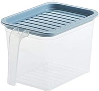 Grande cuisine de rangement en plastique transparent Jars réfrigérateur fruits et légumes Conservation des aliments Riz Co...