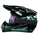 R&P Casco de motocross, para adultos, para exteriores, casco de bicicleta de montaña, de cara completa, para motocross, todoterreno, motocross, motociclismo (Fantasma fantasma,M)