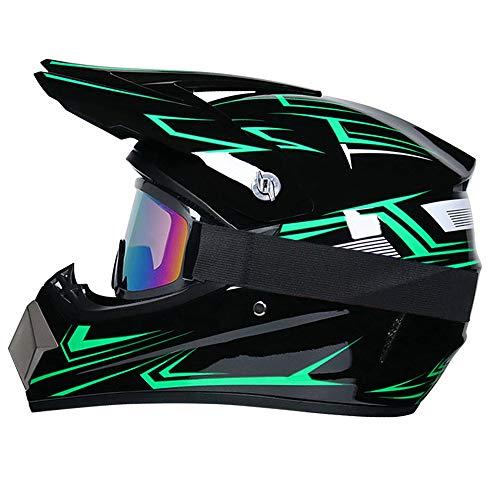 R&P Casco de motocross, para adultos, para exteriores, c