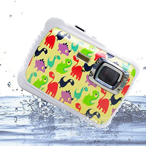 Vmotal GDC5262 impermeable cámara digital con zoom digital de 8x / 8MP / 2' TFT LCD de la pantalla / Cámara impermeable para niños (Pequeño dinosaurio)