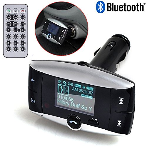 Neue Universal-LCD Display Bluetooth Wireless Auto MP3 FM Transmitter SD MMC USB Modulator Radio Adapter für KFZ-Freisprecheinrichtung Telefonieren und Musik hören MP3-Player Bluetooth-fähigen Geräten