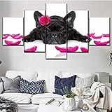 EXQART 5 Leinwandbilder im Art-Déco-Stil Leinwand Gedruckt