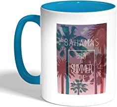 Enjoy The Summer Time Printed Coffee Mug, Turquoise Color (Ceramic)