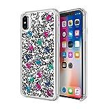 KENDALL + KYLIE Liquid Glitter Case for iPhone X - Cherries Black/Pink/Green/Blue
