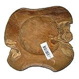 Cornbay Exklusive Wurzelholz-Schale 30 cm aus massivem Teak-Holz Natur - 4