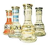 Khalil Mamoon Classic - Jarrón con shishas de cristal, suministros para narguile, forma de campana, accesorios para tubos de narguile