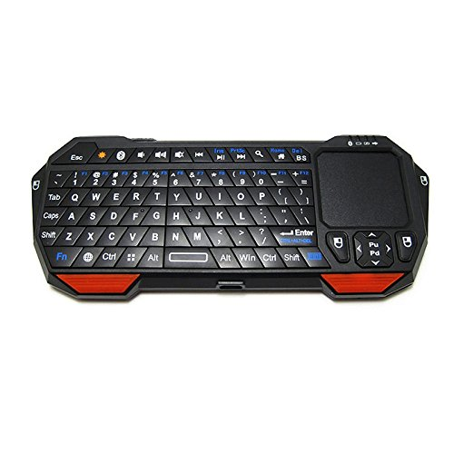 GJJ Wireless Bluetooth Mini Keyboard Mouse Flying Squirrel Game Tablet Android Win7 Keyboard Backlight Mini,red,A
