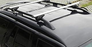 68004 Barras DE Techo para Coche Barra DE Coche DE 110CM SIN BARANDA con Accesorio Directo AL Rack DE Techo Rack DE Acero Compatible con Peugeot 207 5p 2011