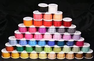 New ThreadNanny 50 Spools of 100% Pure Silk Ribbons - 4mm x 10 Meters - 50 Colors no Duplicates