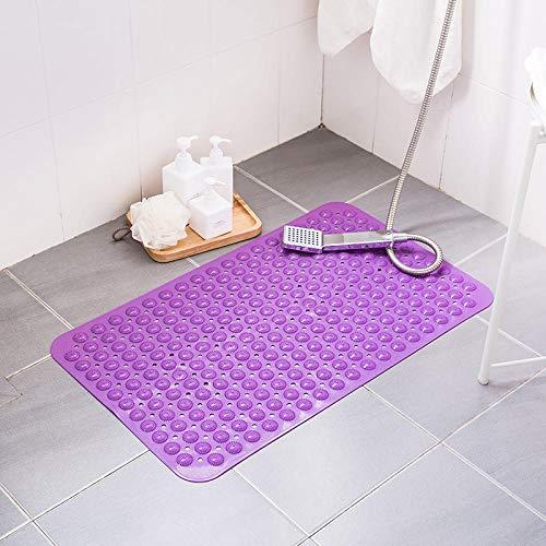 Badmat Badkuip Massage PVC Zacht Comfortabel Wasbaar in de machine Onderhoudsvriendelijk Geschikt voor douchen Baden Hotel-A purple_59cm × 88cm