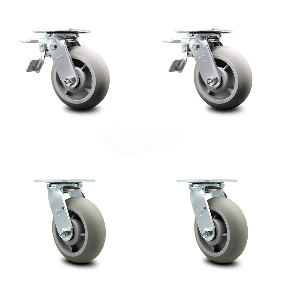 Thermoplastic Rubber Donut 2021 Free Shipping Cheap Bargain Gift new Tread Swivel Plate of Set Caster Top