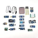 16 pcs/set Kit de módulos de sensor profesional Project Super Starter Kits Kit de módulos de sensor de hogar inteligente de 16 pulgadas para Arduino Raspberry Pi DIY Professional
