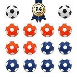 Futbolín Foosballs Replacements Mini negro y blanco balones de fútbol (negro blanco + blanco naranja + blanco azul)