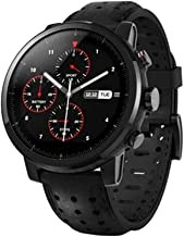 Amazfit Stratos + Multisport GPS Watch, Sapphire (Glass Edition + Genuine Leather Watchstrap) (A1619S)