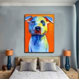 Puzzle 1000 piezas Dibujos animados animal perro bull terrier art en Juguetes y juegos Gran ocio vacacional, juegos interactivos familiares Rompecabezas educativo de juguete p50x75cm(20x30inch)