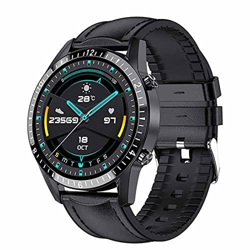 XHJL Actividad Fitness Tracker Reloj Inteligente Pantalla táctil Completa Presión Arterial Sueño Monitor cardíaco P68 Podómetros Bluetooth a Prueba de Agua para Hombres y Mujeres (Black)