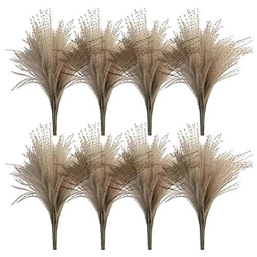 RENSLAT 50 Unids Real Secado Pequeño Pampa Pampas Hierba Flor Boda Bunch Plantas Naturales Decoración Decoración Secado Flores Phragmites Flor Ornamental