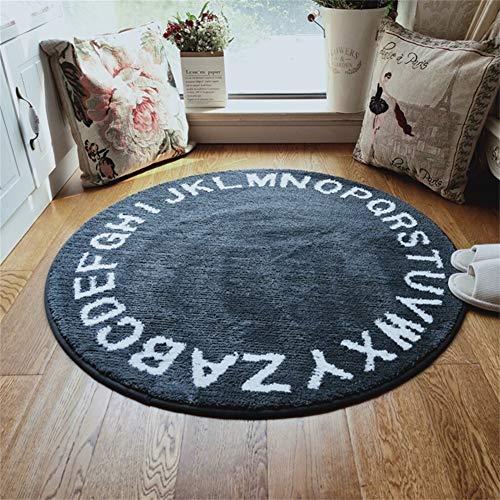 WJY Tapis Rond Salon Chambre Etude Bureau Chaise Ordinateur Moquette Salon Tapis De Table Basse (Color : Circle-08, Size : 90cm)