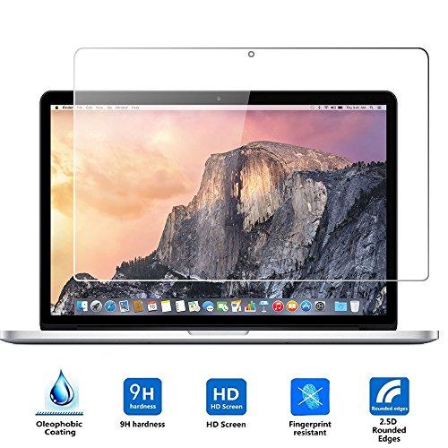 Apple Macbook Pro Retina 13'' 2015 Cristal Templado,Vikoo 9H 0.3mm Ultra Delgado Shatterproof Pantalla de Vidrio Templado HD Flim Tempered Glass Screen Protector para Apple Macbook Pro 13'' Retina 2015