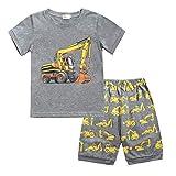 Conjuntos Bebés Niños Niña, Morbuy Pequeño Niño Bebé Ropa Niños Pijama de Dibujos Animados Camiseta Tops Pantalones Cortos Verano Ropa Conjunto (100,Gris)