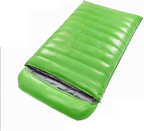 ZWYY Durable,Breathable,comfortableSac de Couchage, Queen Taille Double Sacs de Sommeil 4 Saison enveloppes Adultes Sommeil Sac léger épais Coussin de Couchage Chaud,vert,2000g