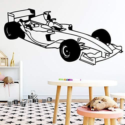 F1 Roadster Racing Car Coche de lujo Coche deportivo Lindo Coche deportivo Vinilo Pegatinas de pared Tatuajes de pared Decoración para el hogar Decoración Sala de estar Dormitorio Arte de vinilo