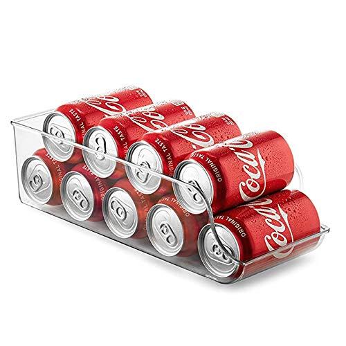 Newthinking Acrylic Fridge Storage Drawer Organiser, Eco-Friendly Clear Canned Food Storage Tray with Non-Slip Corrugated Strip for Kitchen Refrigerator Storage, BPA Free (1 Pack)